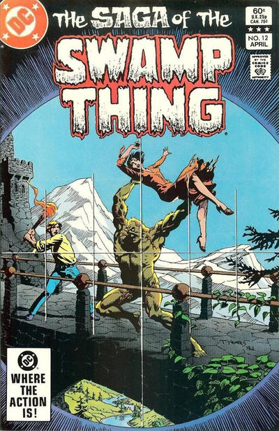 Cover for The Saga of Swamp Thing (DC, 1982 series) #12 [Newsstand]