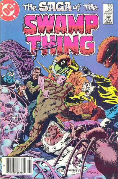 Cover for The Saga of Swamp Thing (DC, 1982 series) #22 [direct-sales]
