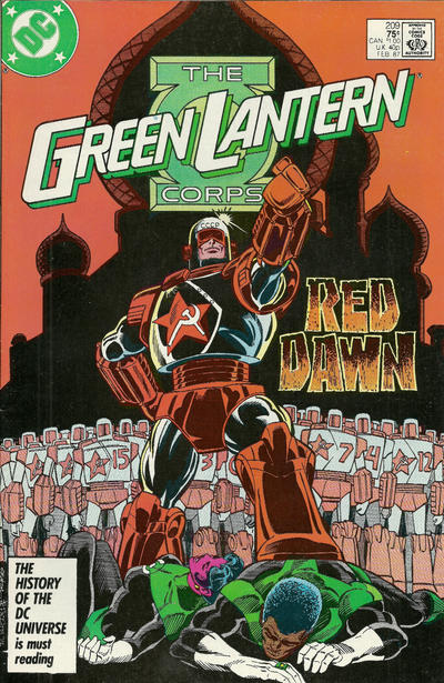 Cover for The Green Lantern Corps (DC, 1986 series) #209 [Newsstand]