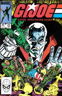 Cover Thumbnail for G.I. Joe, A Real American Hero (Marvel, 1982 series) #22 [Direct Edition]