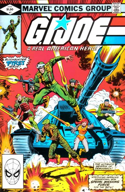 Cover for G.I. Joe, A Real American Hero (Marvel, 1982 series) #1 [Newsstand Edition]