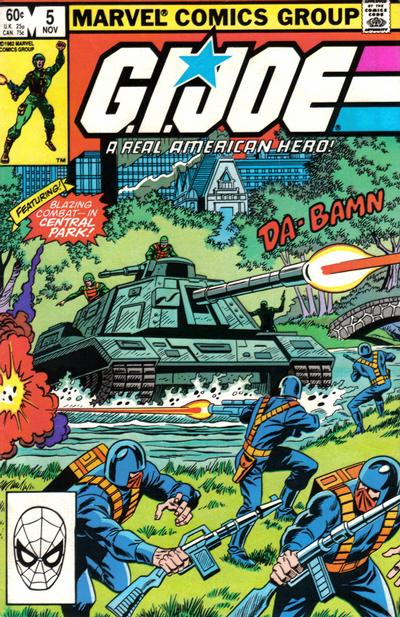 Cover for G.I. Joe, A Real American Hero (1982 series) #5 [Newsstand Edition]