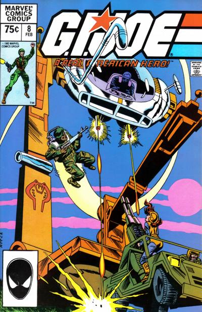 Cover for G.I. Joe, A Real American Hero (Marvel, 1982 series) #8 [2nd Printing]