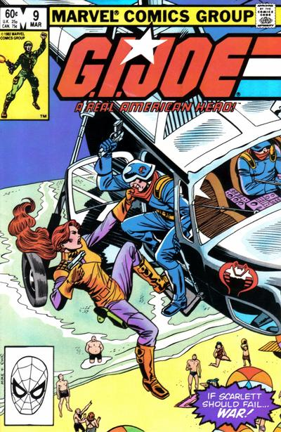 Cover for G.I. Joe, A Real American Hero (Marvel, 1982 series) #9 [Direct Edition]