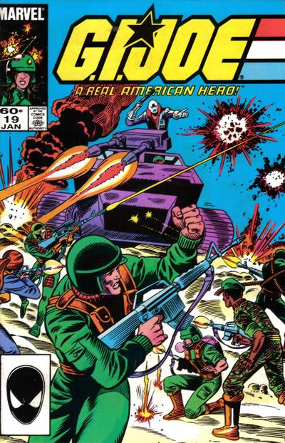 Cover for G.I. Joe, A Real American Hero (Marvel, 1982 series) #19 [Second Print]