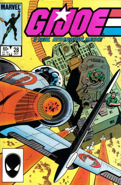 Cover for G.I. Joe, A Real American Hero (Marvel, 1982 series) #28 [Newsstand Edition]
