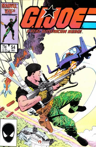 Cover for G.I. Joe, A Real American Hero (1982 series) #54 [Direct Edition]