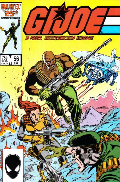 Cover for G.I. Joe, A Real American Hero (Marvel, 1982 series) #56 [Direct Edition]