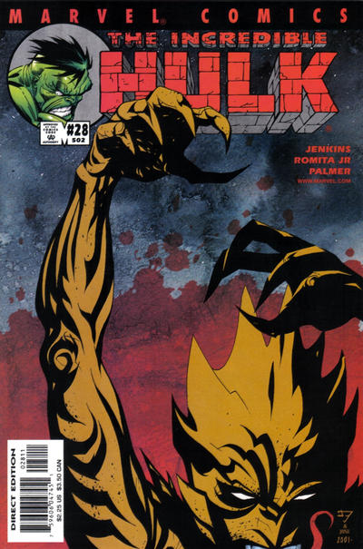 Cover for Incredible Hulk (Marvel, 2000 series) #28 (502)