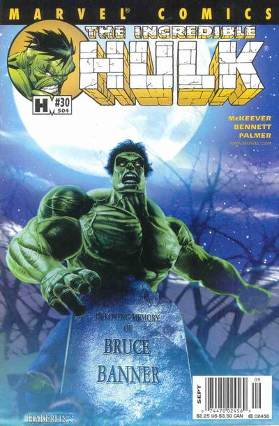 Cover for Incredible Hulk (Marvel, 2000 series) #30 (504) [Newsstand Edition]