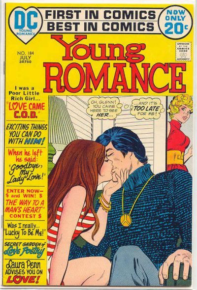 Cover for Young Romance (DC, 1963 series) #184