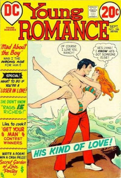 Cover for Young Romance (1963 series) #186