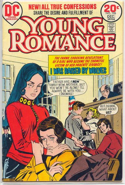 Cover for Young Romance (DC, 1963 series) #196
