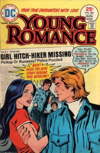 Cover for Young Romance (DC, 1963 series) #206