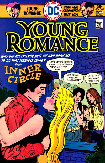 Cover for Young Romance (DC, 1963 series) #207