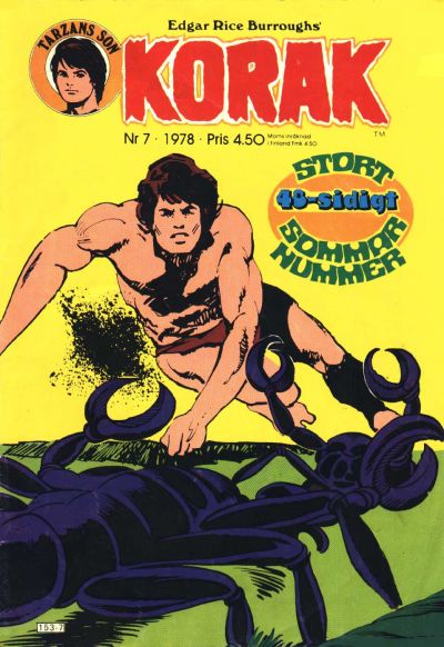 Cover for Korak (Atlantic Förlags AB, 1977 series) #7/1978