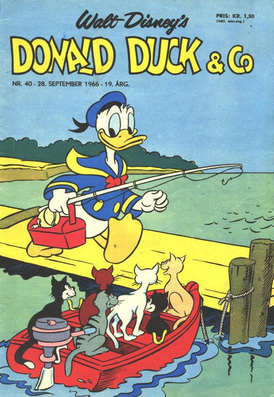 Cover for Donald Duck & Co (Hjemmet / Egmont, 1948 series) #40/1966