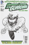 Cover for Green Lantern: New Guardians (DC, 2011 series) #17 [Aaron Kuder Black & White Cover]