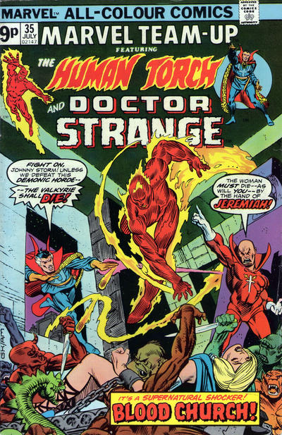 Cover for Marvel Team-Up (Marvel, 1972 series) #35