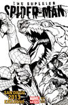 Cover Thumbnail for Superior Spider-Man (2013 series) #13 [SDCC Exclusive Black & White Variant by Humberto Ramos]