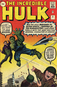Cover Thumbnail for The Incredible Hulk (Marvel, 1962 series) #3 [British Price Variant]