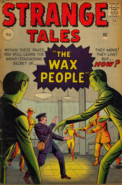 Cover for Strange Tales (Marvel, 1951 series) #93