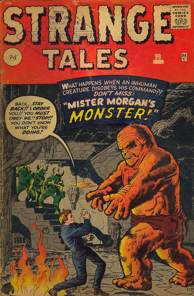 Cover for Strange Tales (Marvel, 1951 series) #99 [UK Edition]