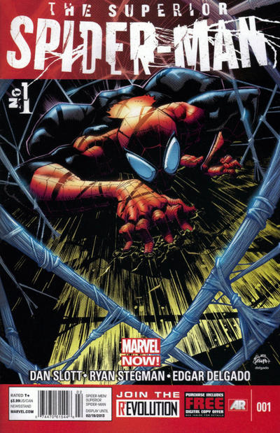 Cover for Superior Spider-Man (Marvel, 2013 series) #1 [Humberto Ramos Variant Cover]