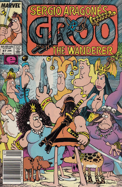 Cover for Sergio Aragonés Groo the Wanderer (Marvel, 1985 series) #47 [Direct]