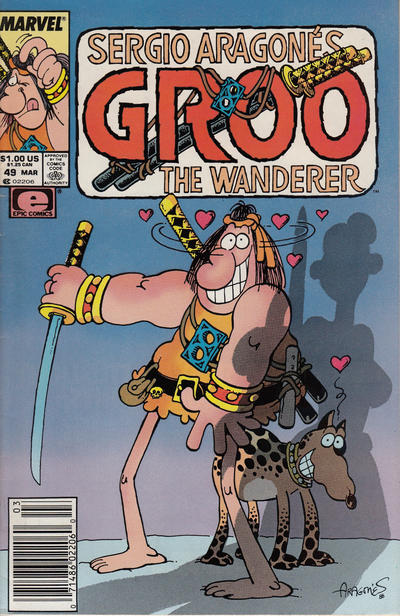 Cover for Sergio Aragonés Groo the Wanderer (Marvel, 1985 series) #49 [newsstand]