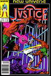 Cover for Justice (Marvel, 1986 series) #2 [Newsstand Edition]
