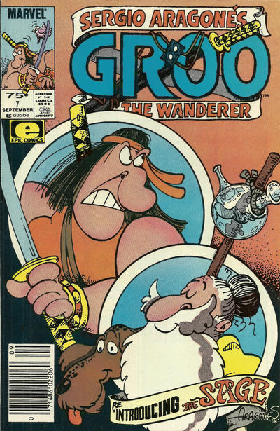 Cover for Sergio Aragonés Groo the Wanderer (Marvel, 1985 series) #7 [Newsstand]