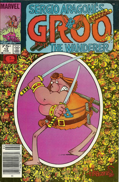 Cover for Sergio Aragonés Groo the Wanderer (Marvel, 1985 series) #12 [Direct]