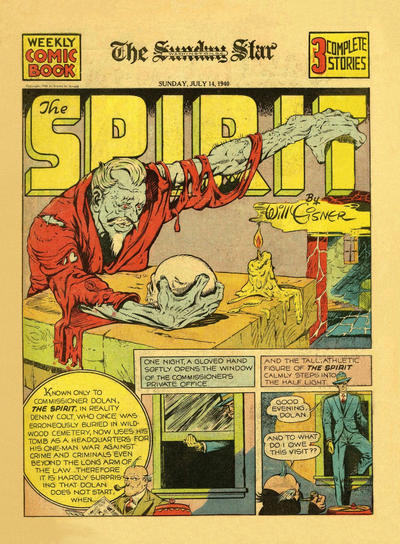 Cover for The Spirit (Register and Tribune Syndicate, 1940 series) #7/14/1940