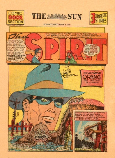 Cover for The Spirit (Register and Tribune Syndicate, 1940 series) #9/8/1940
