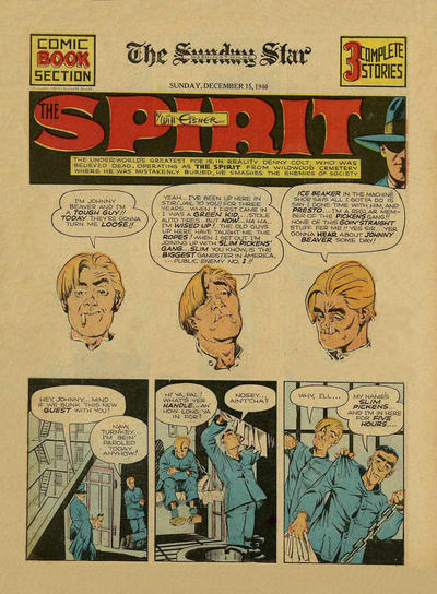 Cover for The Spirit (Register and Tribune Syndicate, 1940 series) #12/15/1940