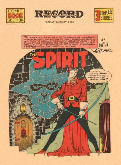 Cover for The Spirit (Register and Tribune Syndicate, 1940 series) #1/5/1941