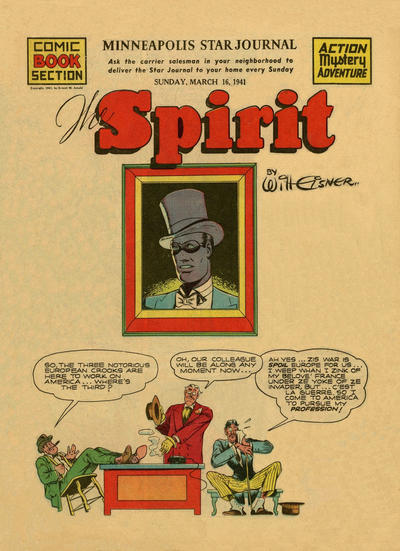 Cover for The Spirit (Register and Tribune Syndicate, 1940 series) #3/16/1941