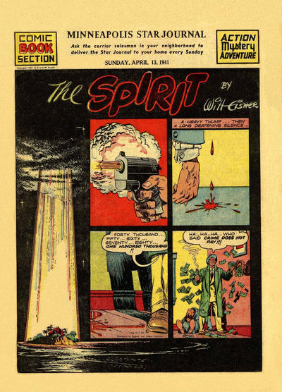 Cover for The Spirit (Register and Tribune Syndicate, 1940 series) #4/13/1941