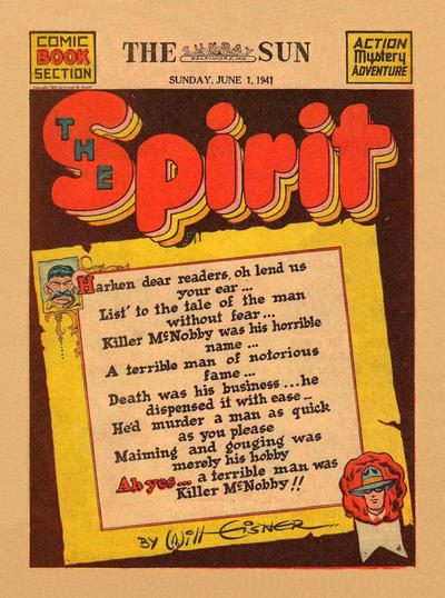 Cover for The Spirit (Register and Tribune Syndicate, 1940 series) #6/1/1941 [Washington DC Star edition]