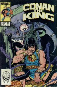 Cover Thumbnail for Conan the King (Marvel, 1984 series) #21 [Direct Edition]