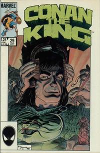 Cover Thumbnail for Conan the King (Marvel, 1984 series) #29 [Direct Edition]