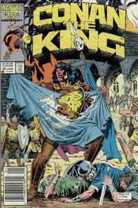 Cover for Conan the King (Marvel, 1984 series) #38 [Newsstand Edition]