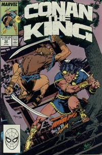 Cover Thumbnail for Conan the King (Marvel, 1984 series) #52 [Direct Edition]
