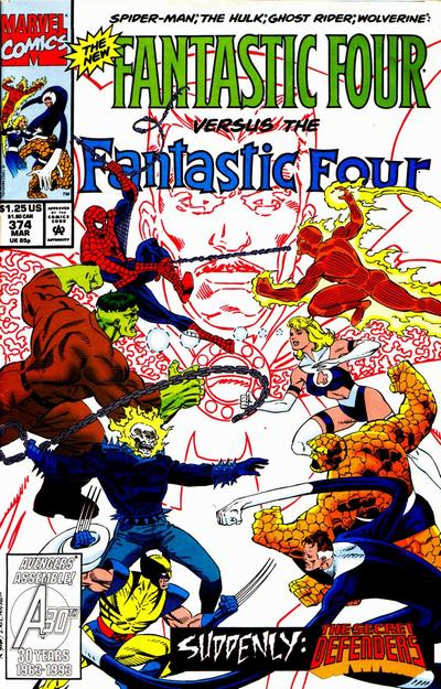 Cover for Fantastic Four (Marvel, 1961 series) #374