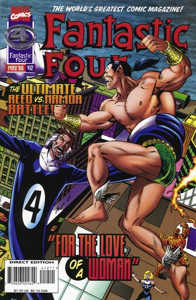 Cover for Fantastic Four (Marvel, 1961 series) #412