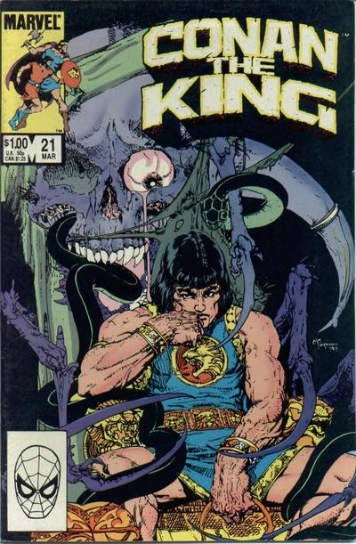Cover for Conan the King (Marvel, 1984 series) #21 [Direct Edition]