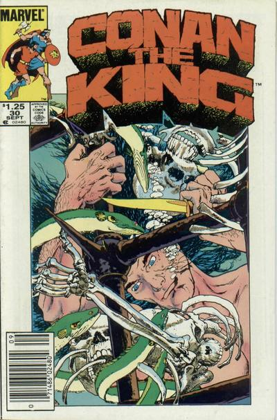 Cover for Conan the King (Marvel, 1984 series) #30 [Canadian Newsstand Edition]