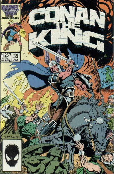 Cover for Conan the King (Marvel, 1984 series) #35