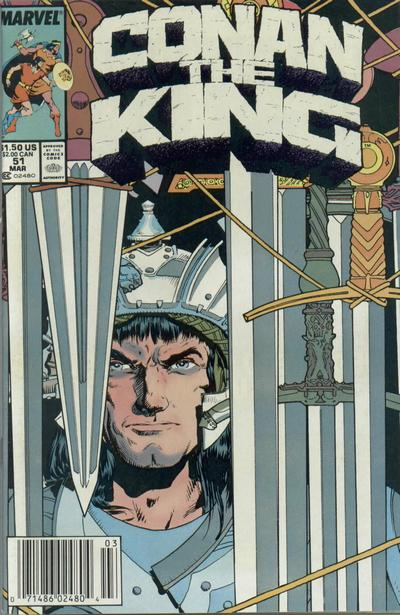 Cover for Conan the King (Marvel, 1984 series) #51 [Newsstand Edition]
